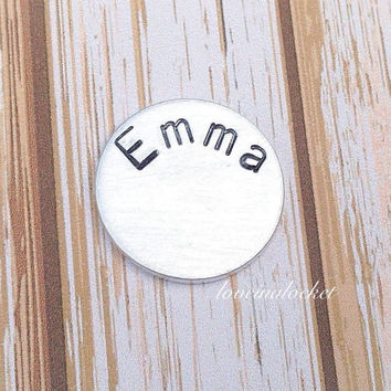 Floating Locket Plate, Name Plate, Living Locket Plate, Name Plate for Lockets, Hand Stamped Plate, Hand Stamped Jewelry, Locket Backplate