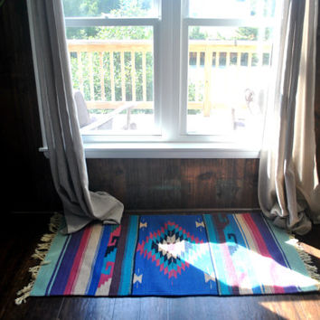 Mexican Rug or Table Runner / hand woven