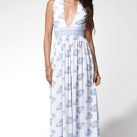 FAITHFULL THE BRAND Night Orchard V-Neck Maxi Dress - Womens Dress - White