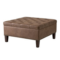 Lindsey Tufted Square Cocktail Ottoman