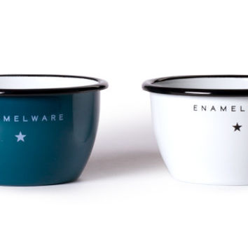 Seamless & Steadfast Enamel Steel Bowls (Set of Two & Six)