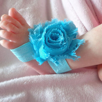 Turquoise Barefoot sandals:Newborn Sandals, Infant sandals, baby sandals, Bottomless Sandals, Photography Prop