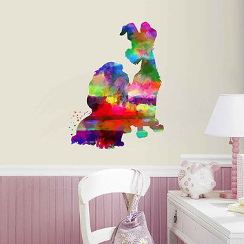 kcik2137 Full Color Wall decal Watercolor Character Disney Lady and the Tramp children's room Sticker Disney