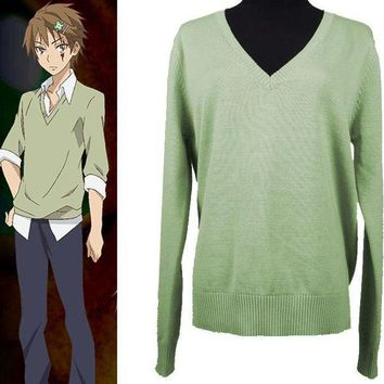 CREY6F Pupa Utsutsu Hasegawa Cosplay Costume Long Sleeve Pullover V-neck JK School Uniform Sweater Cosplay