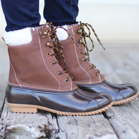 Swell Fur Lined Duck Boots {Cognac}