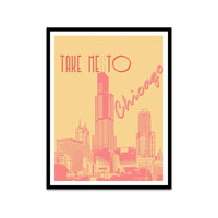 Chicago Residents and Lovers Typography Poster Print