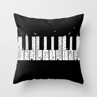 Piano Skyline Throw Pillow by Lawrence Villanueva | Society6