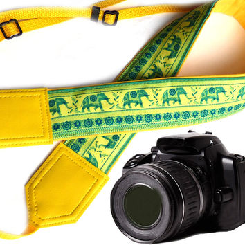 DSLR / SLR Camera Strap. Lucky elephant Camera Strap. Camera accessories. For Sony, canon, nikon, panasonic, fuji and other cameras.