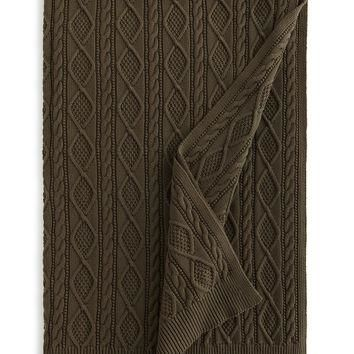 "Judson Cable-Knit Throw, 54"" x 72"" - Ralph Lauren"