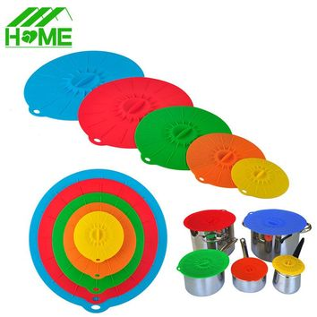 Universal silicone cover lid Suction Microwave Bowl Pan cup bottle pots stretch food lids cooking lids covers for kitchen Tools
