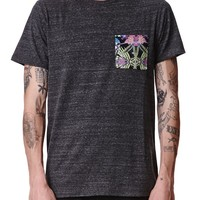 On The Byas Andy Pieced Pocket T-Shirt - Mens Tee - Black