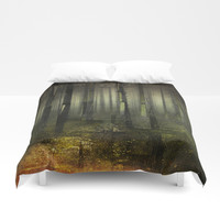 Why am I here Duvet Cover by happymelvin