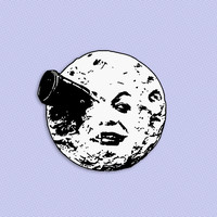 A Trip to the Moon brooch