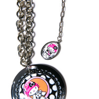 Tarina Tarantino Mod About Kitty Chain Necklace Black One