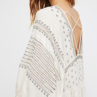 Free People Wild One Embroidered Top