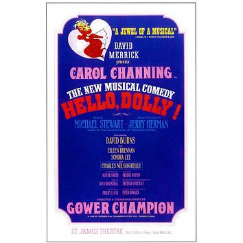 Hello Dolly 14x22 Broadway Show Poster (1964)
