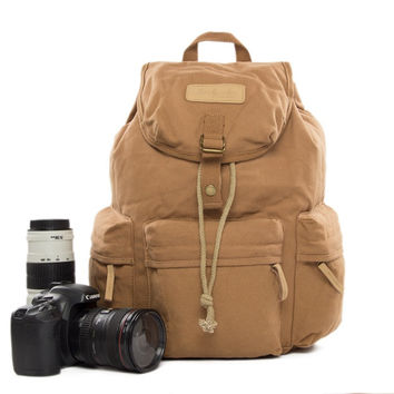 Leisure Backpack Safari DSLR Camera Bag Professional Camera Backpack Canon Nikon Bag bbk-S2 Yellow