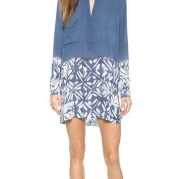 Blue Life Split V Tunic