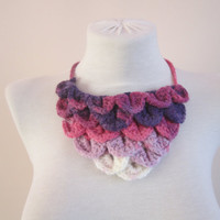 Crochet Necklace,Crochet jewelry,Crochet Neck Accessory