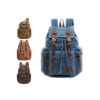 Quality Multifunctional 30L Canvas Backpack Fashion Unisex Rucksack Shoulder Bag Outdoor Hiking Travel School Bag