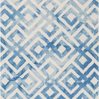 Serafina Geometric Area Rug Blue
