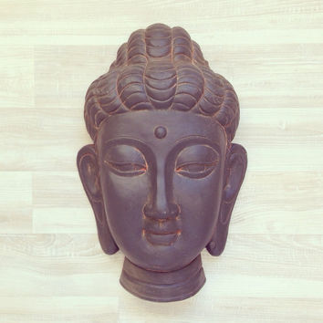 Beautiful Antiqued Buddha Wall Hanging