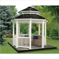 Double Roof Gazebo Size: 10' W x 10' D