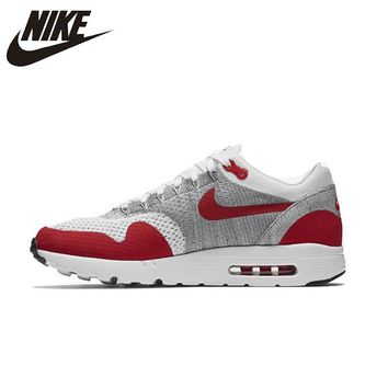 NIKE Air Max1 Ultra Flyknit Original Mens Running Shoes Mesh Breathable Stability Comfortable Lightweight Sneakers For Men Shoes