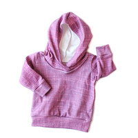 Organic Hoodie in Cranberry Plum