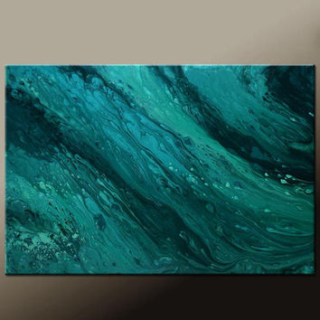 Abstract Canvas Art Painting Canvas 36x24 Original Modern Contemporary Paintings by Destiny Womack - dWo - Sea of Tranquility