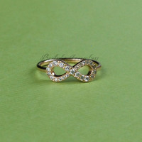 Infinity Ring - Perfect Infinite - Diamond Ring - Promise Ring - Engagement Gift
