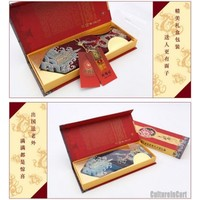 Nature Silk Golden Embroidered Phoenix Red Nanjing Brocade Tie