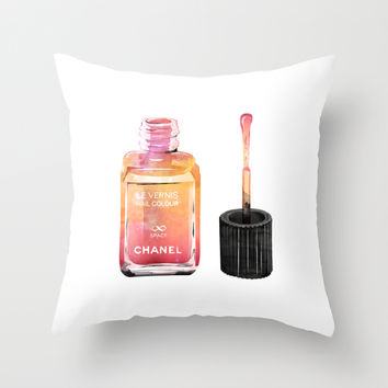 Chanel Le Vernis Eternity Space Throw Pillow by Nina Lindgren