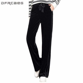 Womens Patchwork Loose Tracksuits Pants