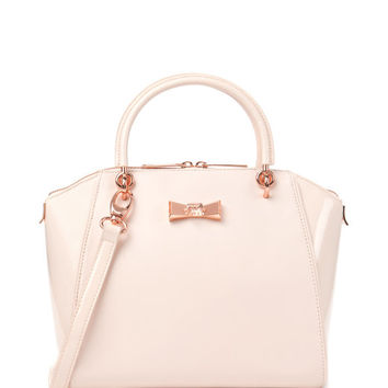 Small crystal bow tote - Nude Pink | Bags | Ted Baker