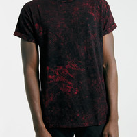 BURGUNDY ICE WASH ROLLER FIT T-SHIRT - TOPMAN USA