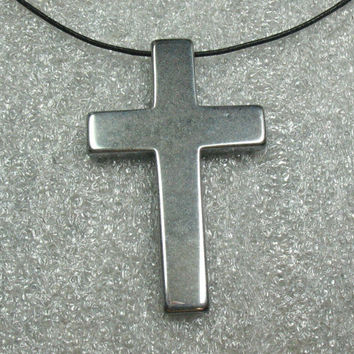 Metal Cross Pendant, Silver Color, 50 mm - Item 72562