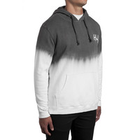 HUF - DIP DYE PULLOVER // CHARCOAL / WHITE
