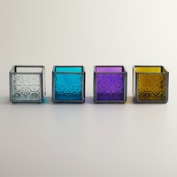 Cool Square Tealight Candle Holders, Set of 4 - World Market