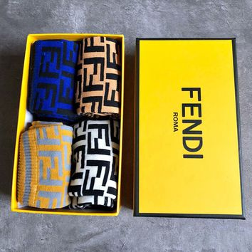 Fendi Fashion 4 Pairs Of Set Sock Style #236