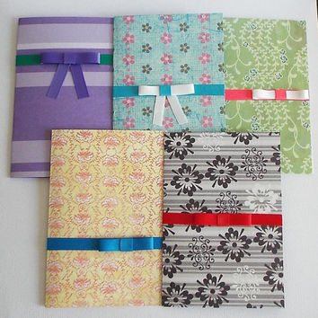 Greeting Cards, Variety Pack, Set of Five, Blank, Original, Handmade, Gift, Design,  (Look like you care), Affordable, Gift Card, Ribbon