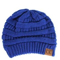 C.C. Beanie Cable Knit Beanie in Royal Blue HAT-20A-ROYALBLUE