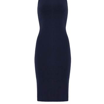 Badgley Mischka Navy Halter Sheath