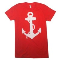 Happy Family Nautical Anchor American Apparel Womens T-Shirt