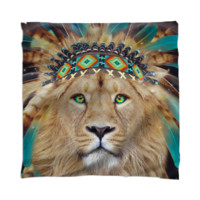 Fight For What You Love • Chief of Dreams: Lion v.2 Unisex Scarf / Mini Wall Tapestry created by soaringanchordesigns   Print All Over Me