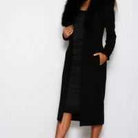 Abyss by Abby - Racoon Fur RSVP Coat in Black - at Shaide Boutique – SHAIDE BOUTIQUE