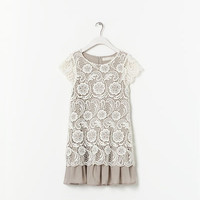 CONTRASTING EMBROIDERED DRESS - Dresses - Girl (2 - 14 years) - Kids | ZARA United States