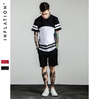 Men's Fashion Short Sleeve Print Patchwork T-shirts [7587953031]