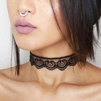1Pcs Black Sexy Lace Choker Necklace For Women 2016 Jewellery Accessories Vintage Heart Lace Chokers Sexy Chocker  #87356