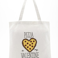 Pizza Valentine Canvas Tote